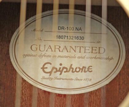 Đại lý Bán Đàn Guitar Ephiphone DR 100 Nhập Khẩu