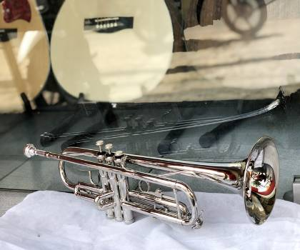 Địa chỉ mua kèn trumpet lazer trắng
