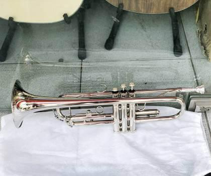 Mua kèn trumpet lazer trắng